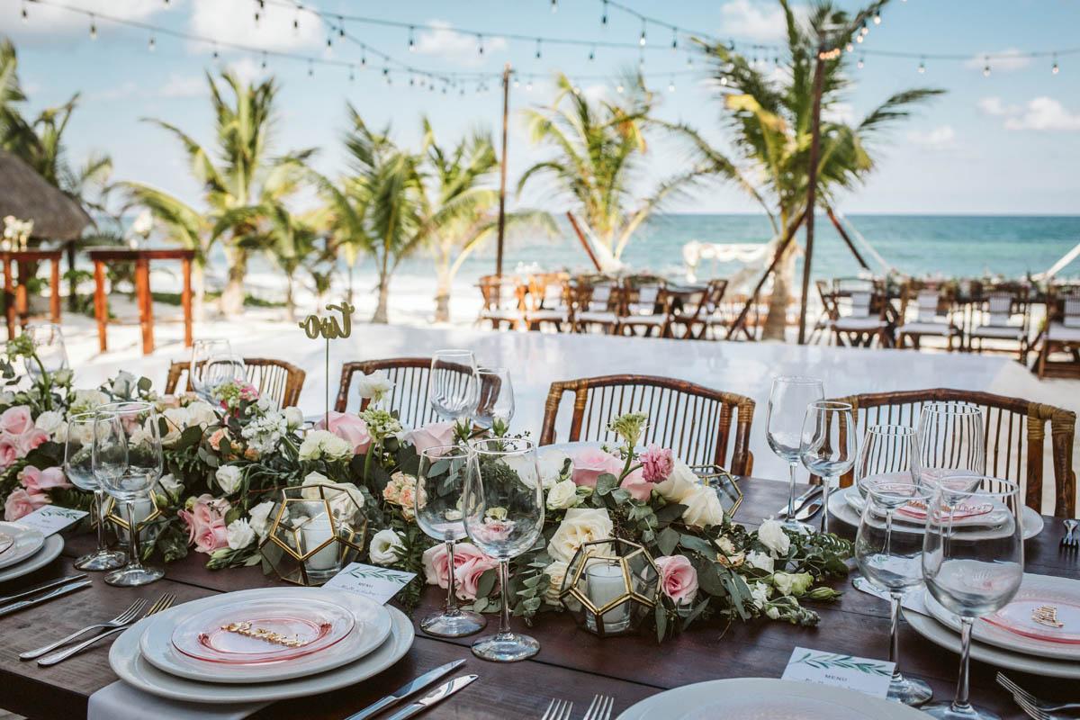 Wedding Reception Akiin Beach Tulum